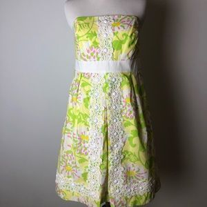 Lilly Pulitzer Jubilee Strapless Dress Size 8